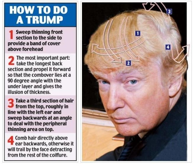 how does donald trump comb his hair?