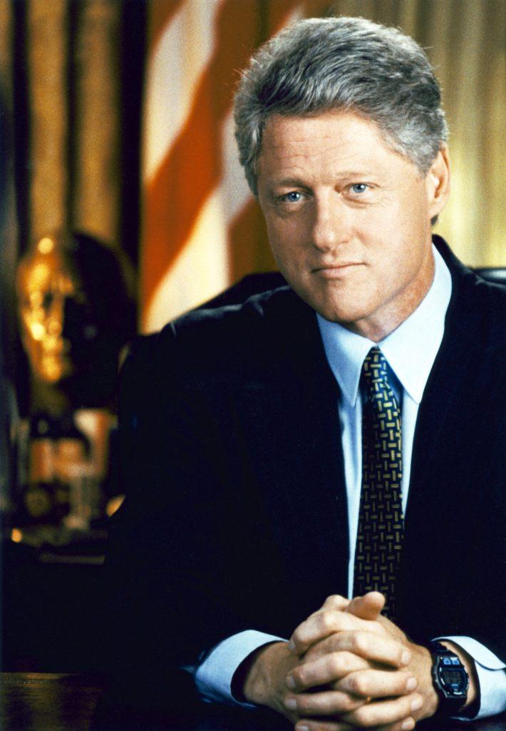 Former President Clinton still has a mature hairline. Ronald Reagan also  had a juvenile hairline for his whole life. Former President Clinton still  has an ...